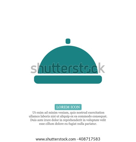 Restaurant cloche Icon, Restaurant cloche icon flat, Restaurant cloche icon picture, Restaurant cloche icon vector, Restaurant cloche icon EPS10, Restaurant cloche icon graphic - stock vector