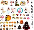 Restaurant & cooking graphic design elements for menu, wallpaper (vector) - stock vector
