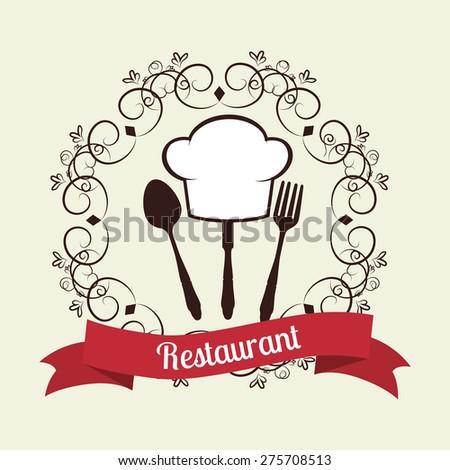 Restaurant design over white background ,vector illustration. - stock vector