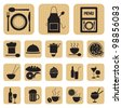 Restaurant food and drink icons set - stock vector