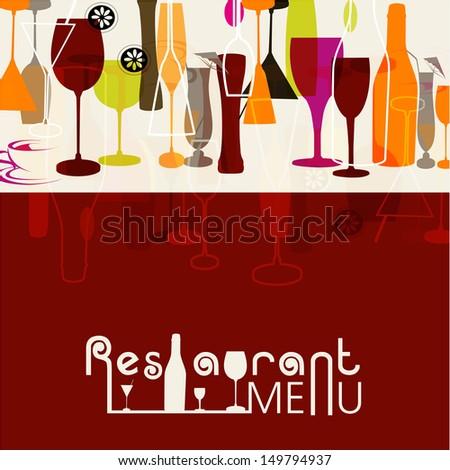 Restaurant menu card design.  - stock vector
