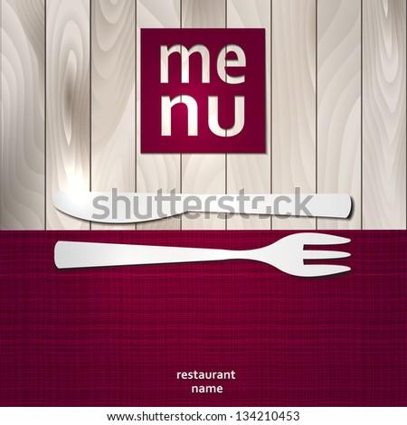 Restaurant Menu Card Design template. Vector Illustration. - stock vector