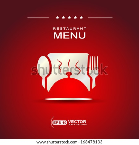 restaurant menu cover design - stock vector