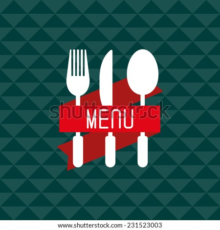 Restaurant menu design. Menu design with spoon, fork and knife. Vector illustration. - stock vector