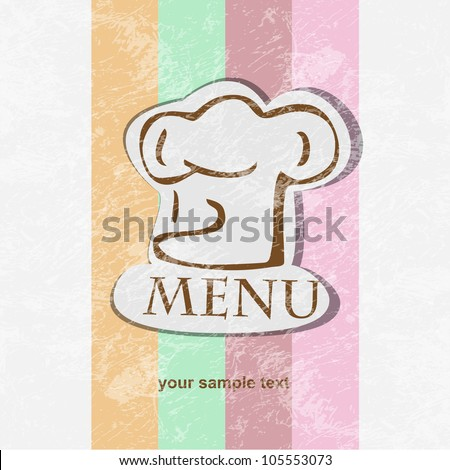 restaurant menu design retro poster. - stock vector