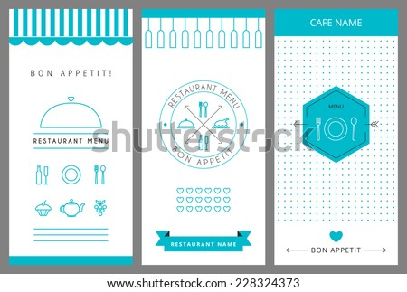 Restaurant menu design template. Vector isolated illustration. - stock vector
