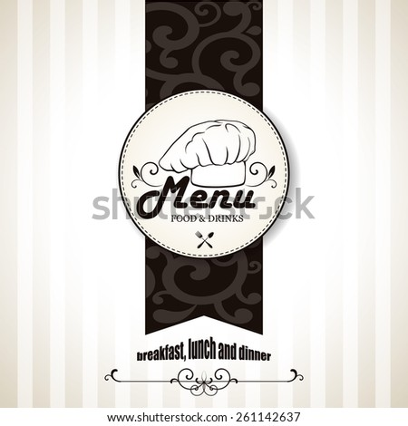 Restaurant menu design. Vector illustration. - stock vector