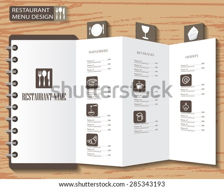 restaurant menu, infographics background and elements design. Can be used for  layout, banner, web design, cookbook, brochure template. Vector illustration - stock vector