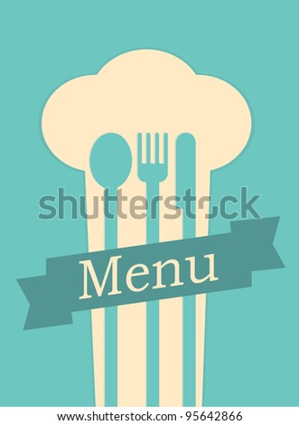 restaurant menu retro poster - stock vector