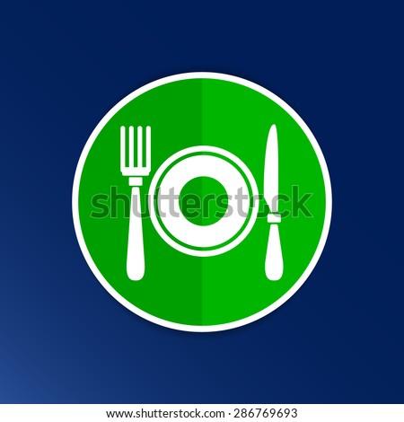 Restaurant menu symbol such logo food cafe. - stock vector