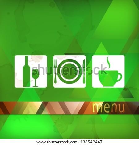 restaurant menu template - stock vector