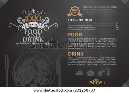 Restaurant or coffee house menu design - stock vector