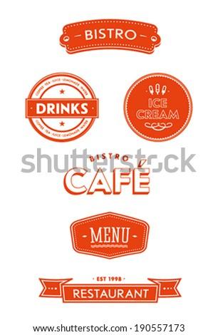 Restaurant Set - stock vector