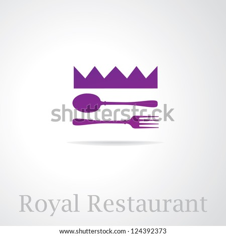 Restaurant sign design. luxury template. Vector - stock vector