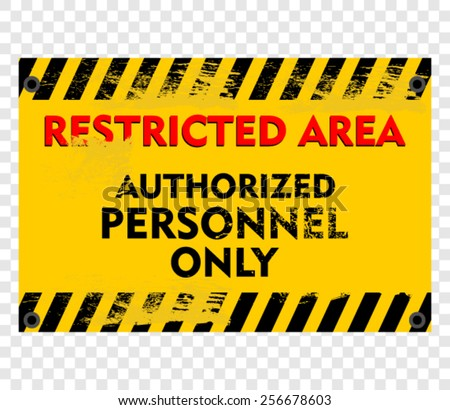 restricted area - stock vector