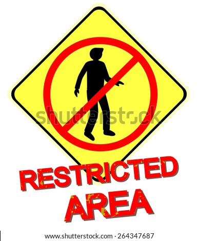Restricted Area sign in vector - stock vector