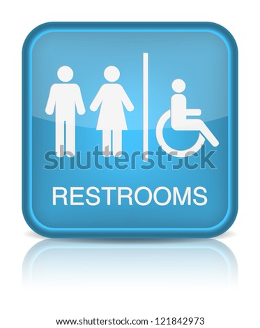 Restrooms Sign. Vector illustration - stock vector