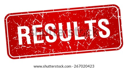 results red square grunge textured isolated stamp - stock vector
