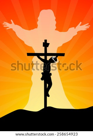 Resurrection of Jesus Christ - Vector illustration   - stock vector