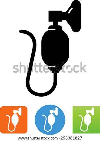Resuscitator symbol. Vector icons for video, mobile apps, Web sites and print projects.  - stock vector