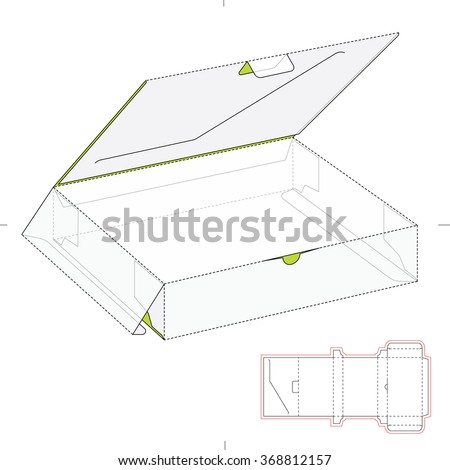Retail Box with Die Cut Template - stock vector