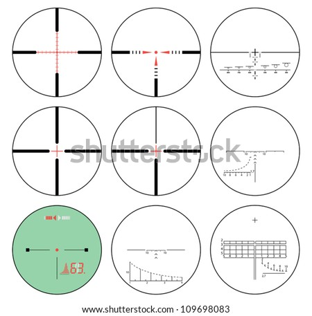 reticles - vector set - stock vector