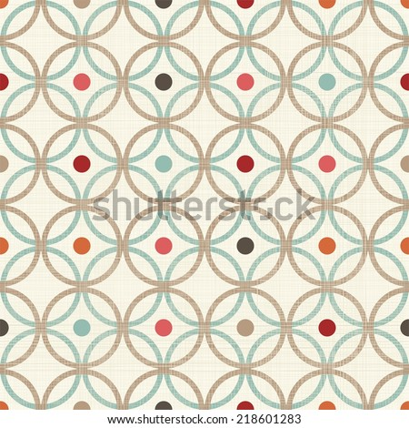 retro abstract colorful seamless background with fabric texture   - stock vector
