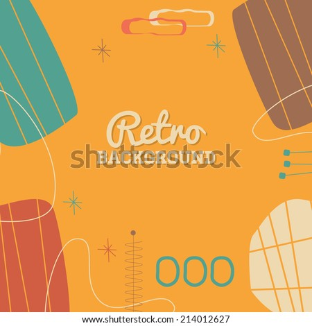 retro abstract mid century modern background stock vector