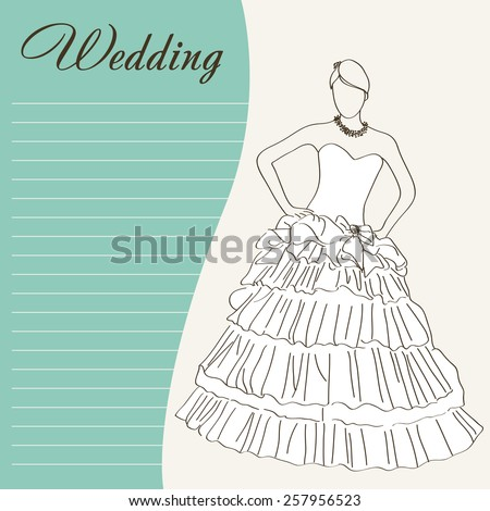 retro abstract wedding background - stock vector