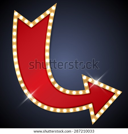 Retro arrow with space for text - stock vector