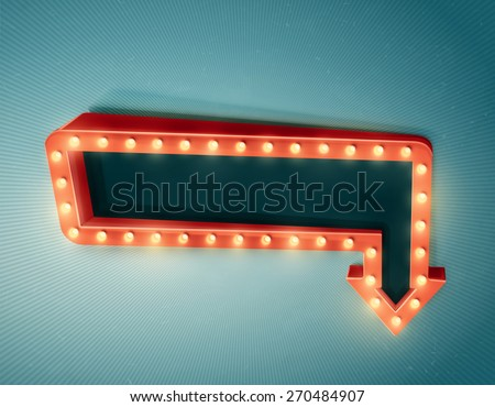 Retro arrow with space for text, eps 10 - stock vector