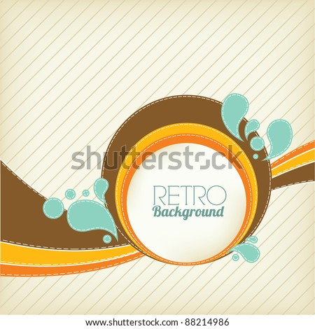 Retro Background Design - stock vector