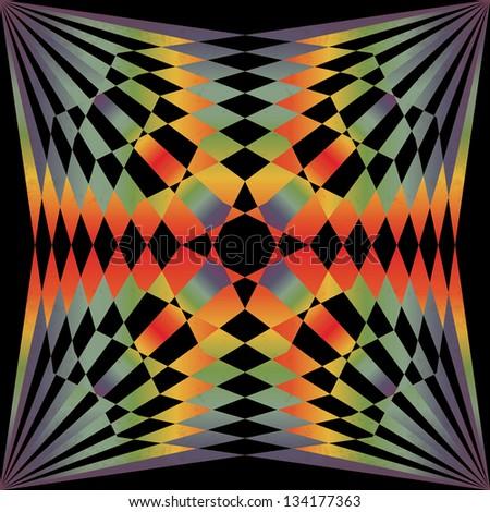 Retro background. Geometric colorful rays. Vector illustration EPS10 - stock vector