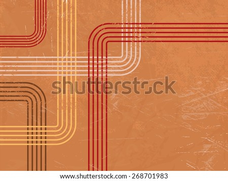 Retro background pattern - abstract lines - stock vector