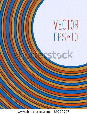 Retro background with colorful lines - stock vector