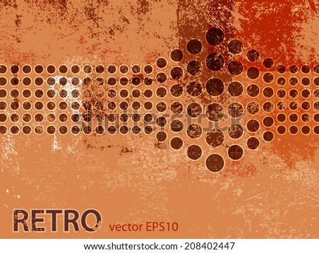 Retro background with dots - stock vector
