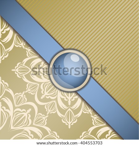 Retro background with ornament. Illustration 10 version - stock vector