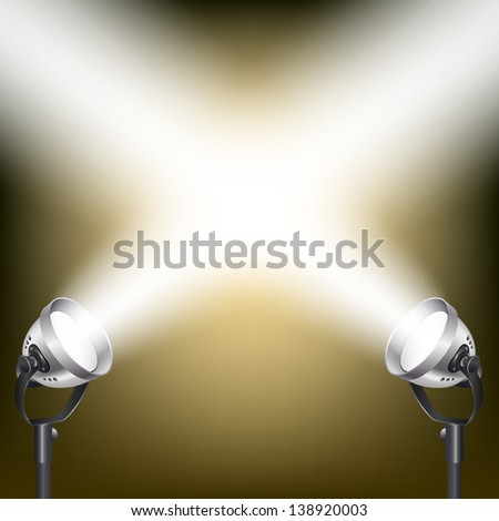 retro background with spot lights - stock vector