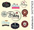 Retro Bakery Badges And Labels. Vector - stock vector