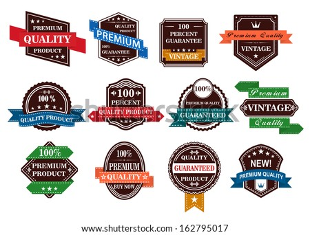 Retro banners, labels and stickers set for retail business design - stock vector