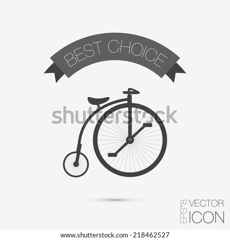 retro bicycle icon, Symbol of transport. Icon of a healthy lifestyle - stock vector