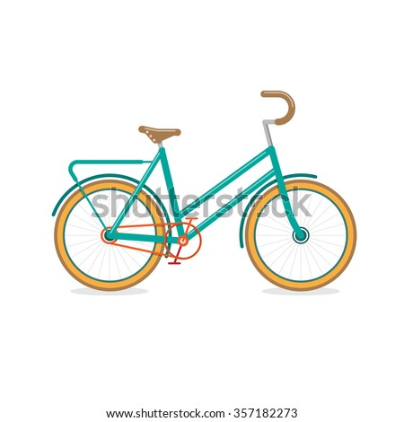 Retro Bicycle, transportation vehicles, Flat style vector illustration - stock vector