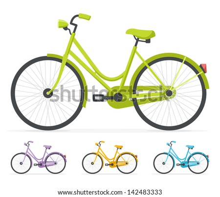 Bicycle illustration retro - photo#23