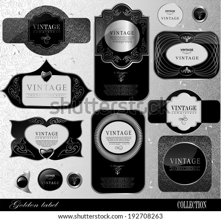 Retro black label/can be used for invitation, congratulation - stock vector