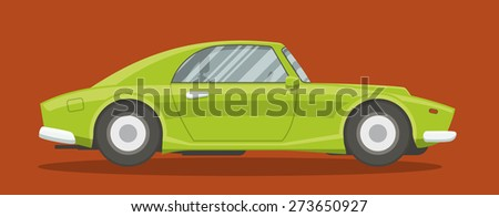 Retro brandless race car side view vector illustration.  - stock vector