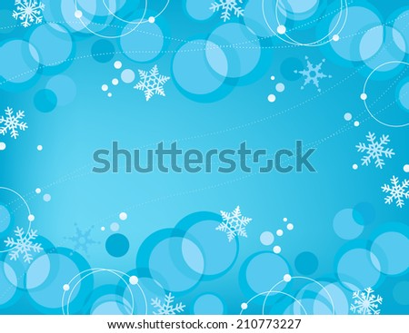 Retro Bubbles Snowflakes Background  Retro-stylized bubbles background with snazzy snowflakes - stock vector