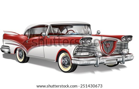 Retro car. - stock vector