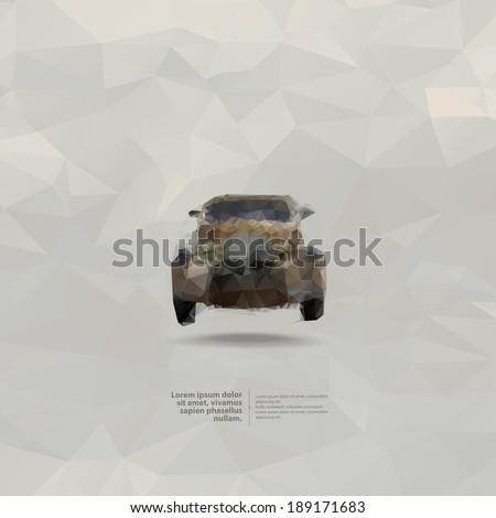 Retro car. Vector format - stock vector
