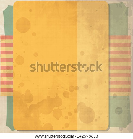 Retro card design with vintage background - stock vector