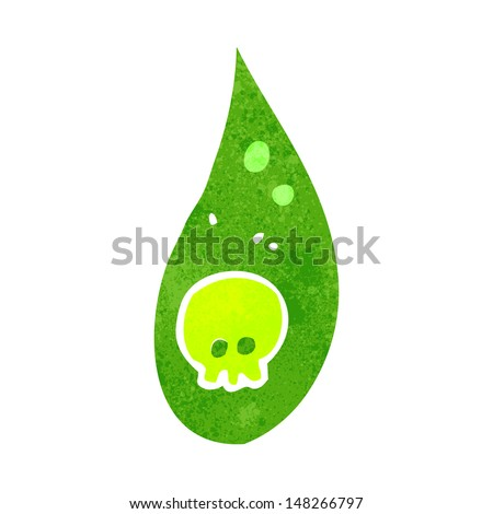 retro cartoon acid rain drop - stock vector
